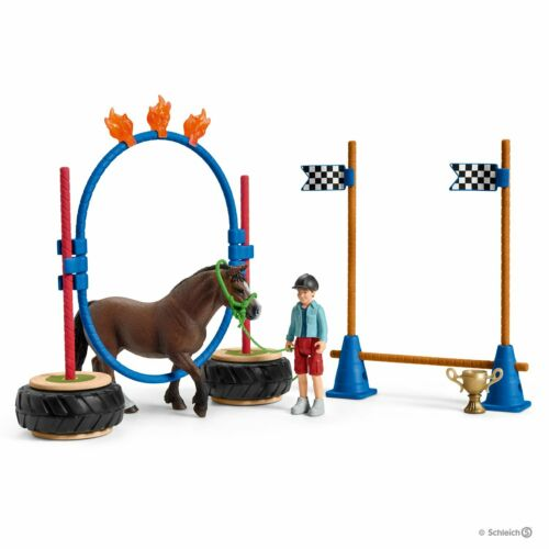 SCHLEICH®  Farm World  42482   Pony Agility Rennen NEU /& OVP