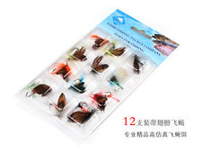 On sale! 12 Pcs Butterfly Style fly fish lure Fly Fishing Trout Salmon Flies Set