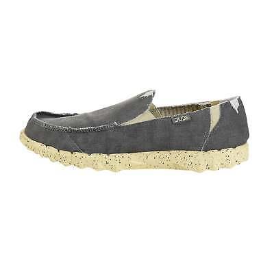 Hey Dude Shoes Farty Funk Grey Lemon Slip On Mule Casual Shoes