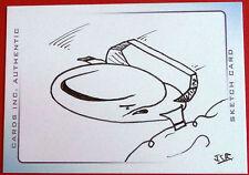 Hand-drawn Sketch Card THUNDERBIRD 2, by James Ramsey - Thunderbirds (movie)