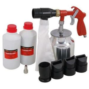 Details about Air Sandblaster Gun Kit Sand Blast Sandblasting Rust Paint  Dirt Removal CT4694