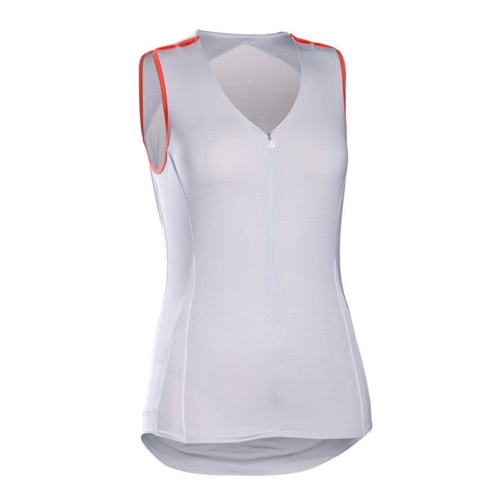 New Women's WSD Bontrager Vella Jersey Sleeveless Size Small White orange