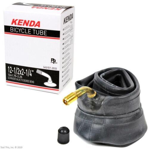 """Kenda 12-1//2/"""" x 2-1//4/"""" 70° Bent Valve Schrader Kids Bike Stroller Inner Tube"""