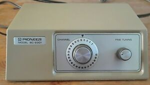 Vintage PIONEER Spin Dial Cable Box Model BC-2301 TV CATV Converter Prop Display