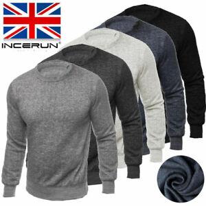 Fashion-Mens-Sweatshirt-Sweat-Pullover-Plain-Top-Jumper-Muscle-Tops-Tee-UK-STOCK