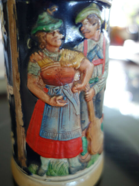 "VINTAGE RETRO 50s QUALITY GERMAN 1/2 LITRE ""FRIENDSHIP"" CERAMIC BEER STEIN"