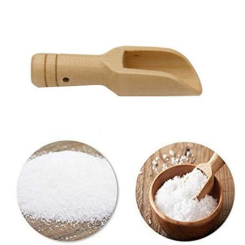 3//4X Wooden Small Little Mini Scoop Salt Sugar Coffee Spoon Kitchen Cooking Too
