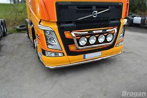 Pour-2013-Volvo-FM4-Euro-6-Inox-Grille-Barre-Lumineuse-D-Pas-Bloc-Cote