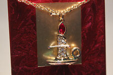 Swarovski Savvy Collection Christmas Candle Stick Necklace Limited Edition Mint