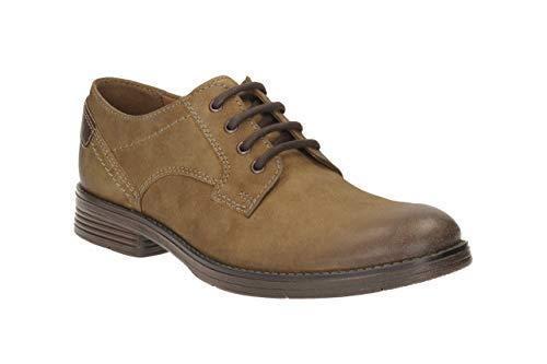 zapatos Nuevos Tobacco 5 tamaño G Devington Lace Up 7 Clarks Walk Suede B4r1BHn