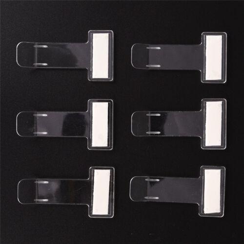 5 Pcs Portable Car Windscreen Parking Ticket Clear Permit Holder Clip Sticker FX