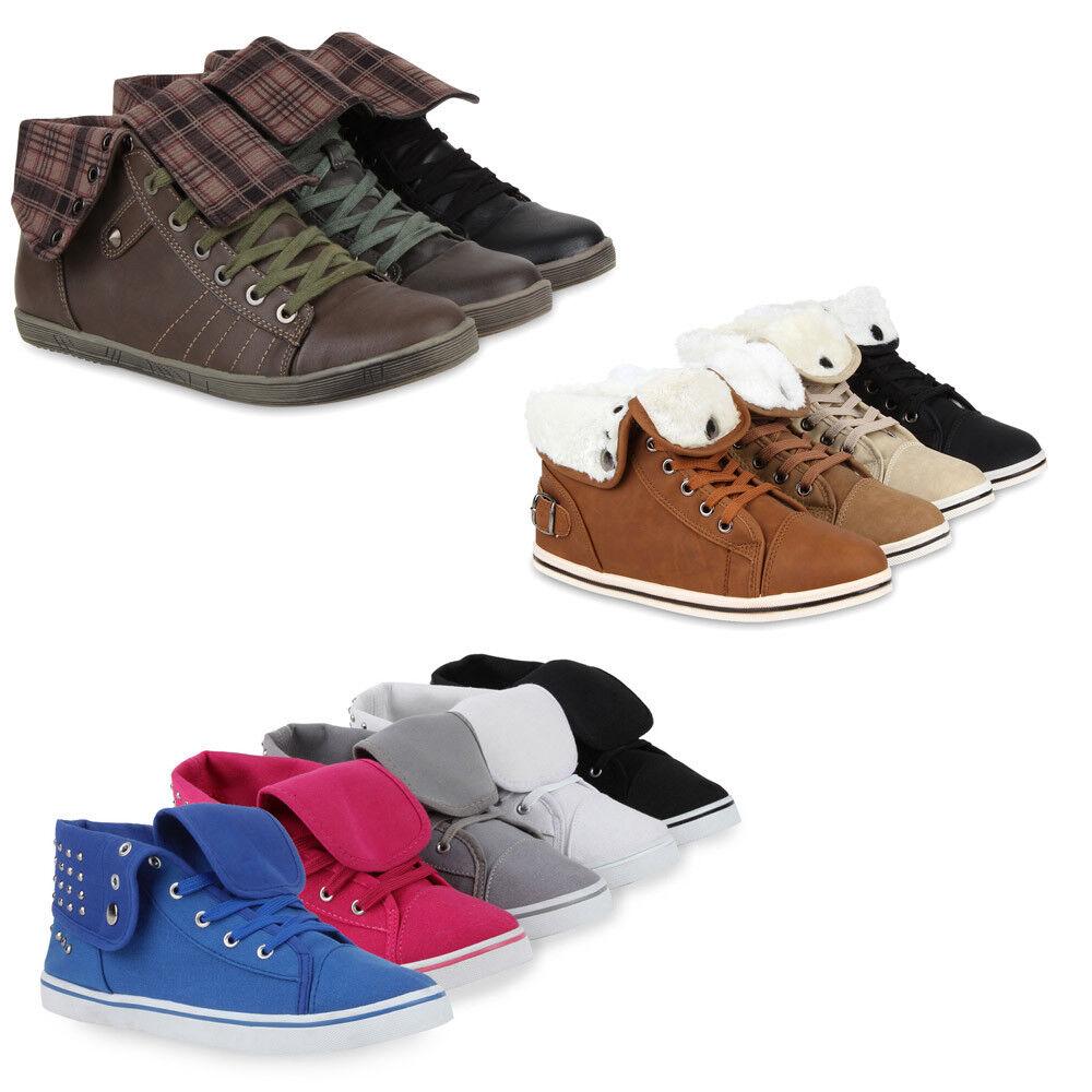 Damen Sneakers Nieten  Sport zapatos  71278 Sportliche Stoff zapatos  Nieten Gr. 36-41 Top bf7bcf
