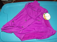 Womens size M 8/10 purple bikini bottoms  COVER-UP high waist