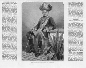 1881-Antique-Print-PEOPLE-INDIA-Maharajah-Chamarajendra-Wodiyar-Mysore-77