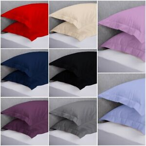 Luxury-200-thread-count-100-Cotton-2-x-Oxford-Pillow-Cases-Covers