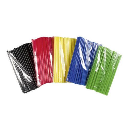 75 trinkhalme pajas 25 x 0,8 cm con selector de color