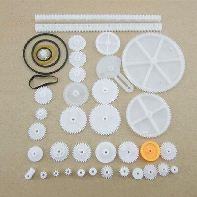 34 Kinds Plastic Rack Reduction Worm Gears Belt Pulley DIY For Robot good