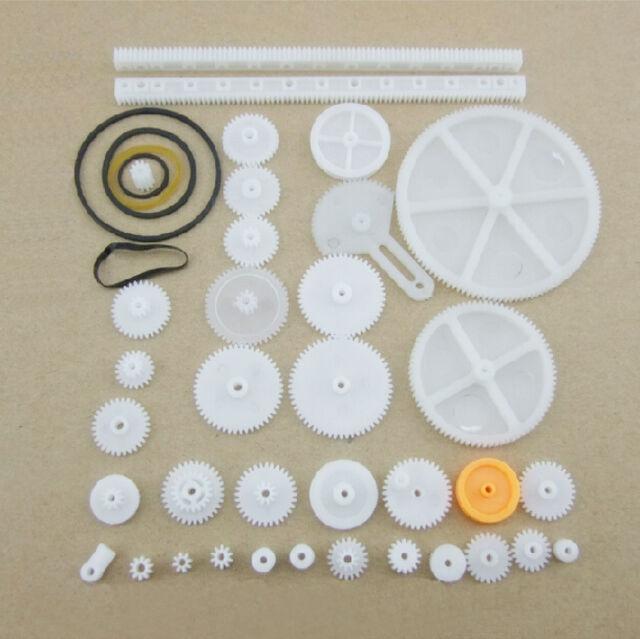 34 Kinds Plastic Shaft Rack Reduction Worm Gears Belt Pulley DIY Robot Hotsale