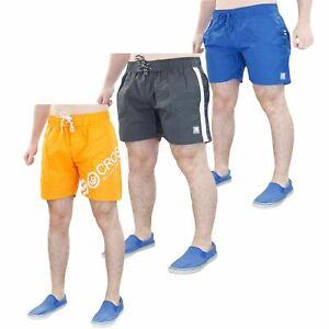 Mens-Beach-Shorts-Mesh-Line-Exercise-Surf-Swimwear-Trunks-Crosshatch-All-Sizes