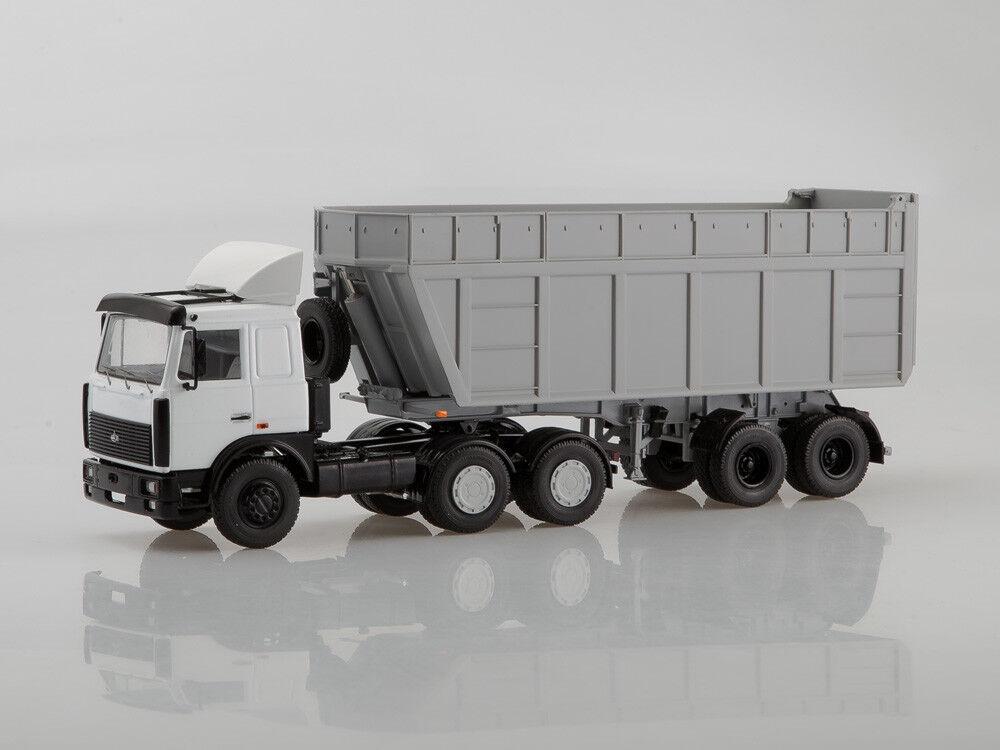 Modelo de escala camión 1 43 MAZ-6422 con semirremolque camión MAZ-9506-30