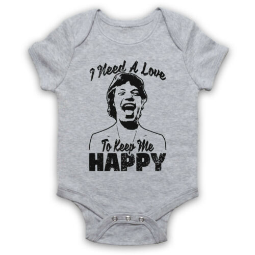 HAPPY MICK JAGGER ROLLING UNOFFICIAL STONES NEED A LOVE BABY GROW BABYGROW GIFT
