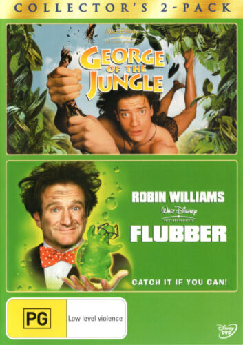 1 of 1 - George of the Jungle / Flubber  - DVD - NEW Region 4