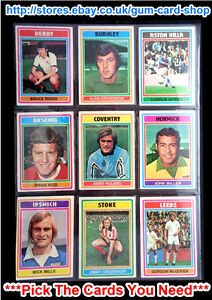 TOPPS 1976 FOOTBALL BLUE//GREY CARDS 1 TO 182 G *PLEASE SELECT CARDS*