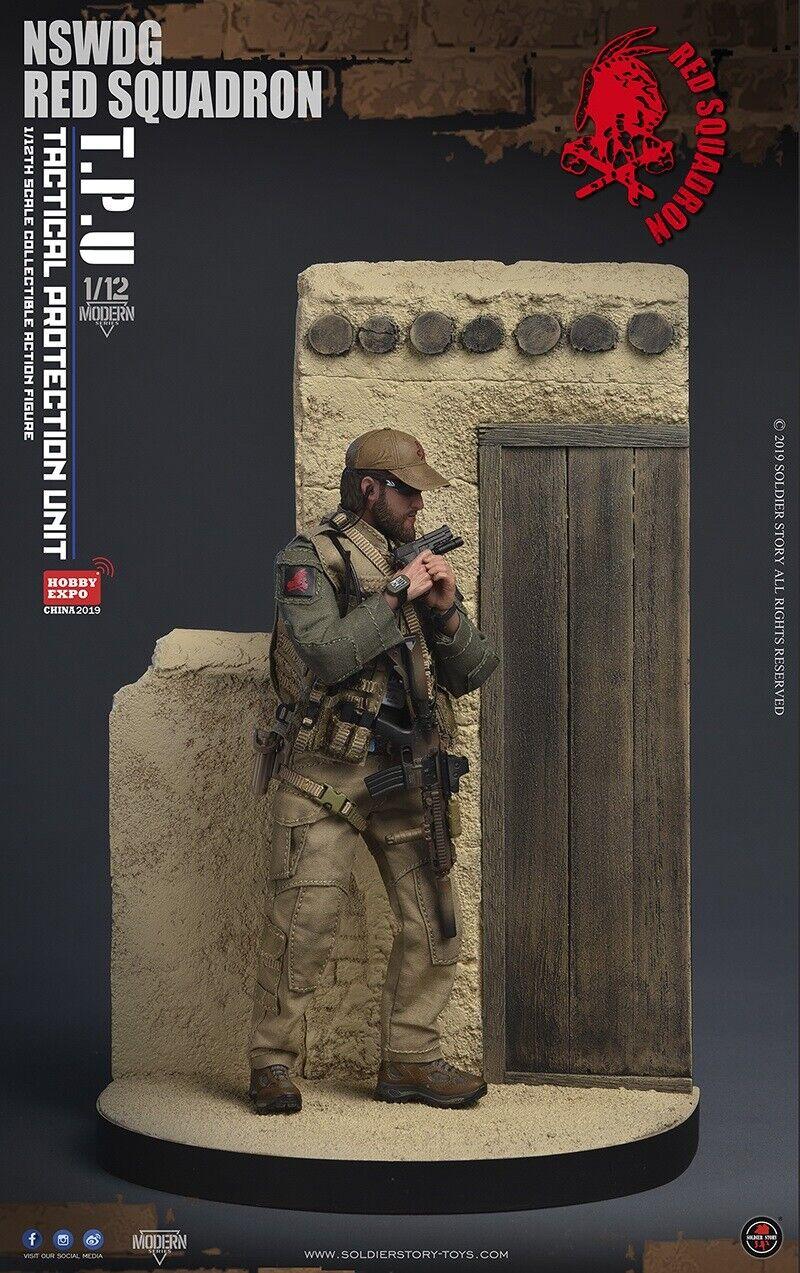 1 12 NSWDG rot SQUADRON T.P.U Soldier W  Platform SoldierStory SSM001 Figure Set