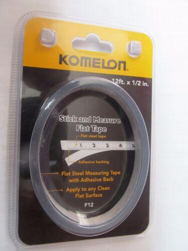 Komelon 12-Pied Bâton et Mesure Plat Ruban à mesurer #F12 nouveau