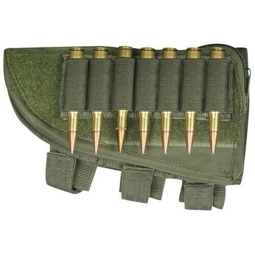RIGHT HAND Hunting Butt Stock Shotgun Ammo Cheek Rest Pouch OD GREEN OLIVE NEW