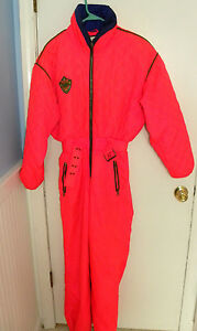 Obermeyer-Women-039-s-Size-8-Bright-Orange-Ski-Snowsuit-Style-Winner
