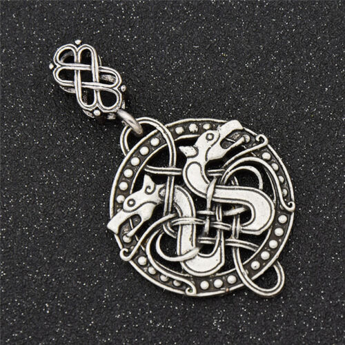1Pc Celtic Knots Dragon Pendant Norse Viking Silver Vintage Retro Nordic DIY New