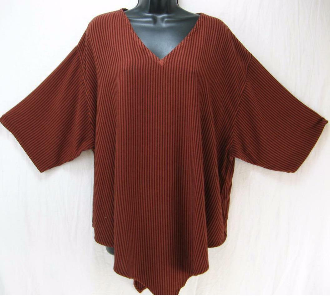 TIENDA HOTerracotta StripeMgoldCCAN COTTONS S Monsoon Pointed Tunic TopOS