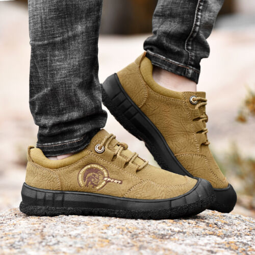 Genuine Leather Mens Moutain Hiking Travelling Shoes Outdoor Trainers Sneakers