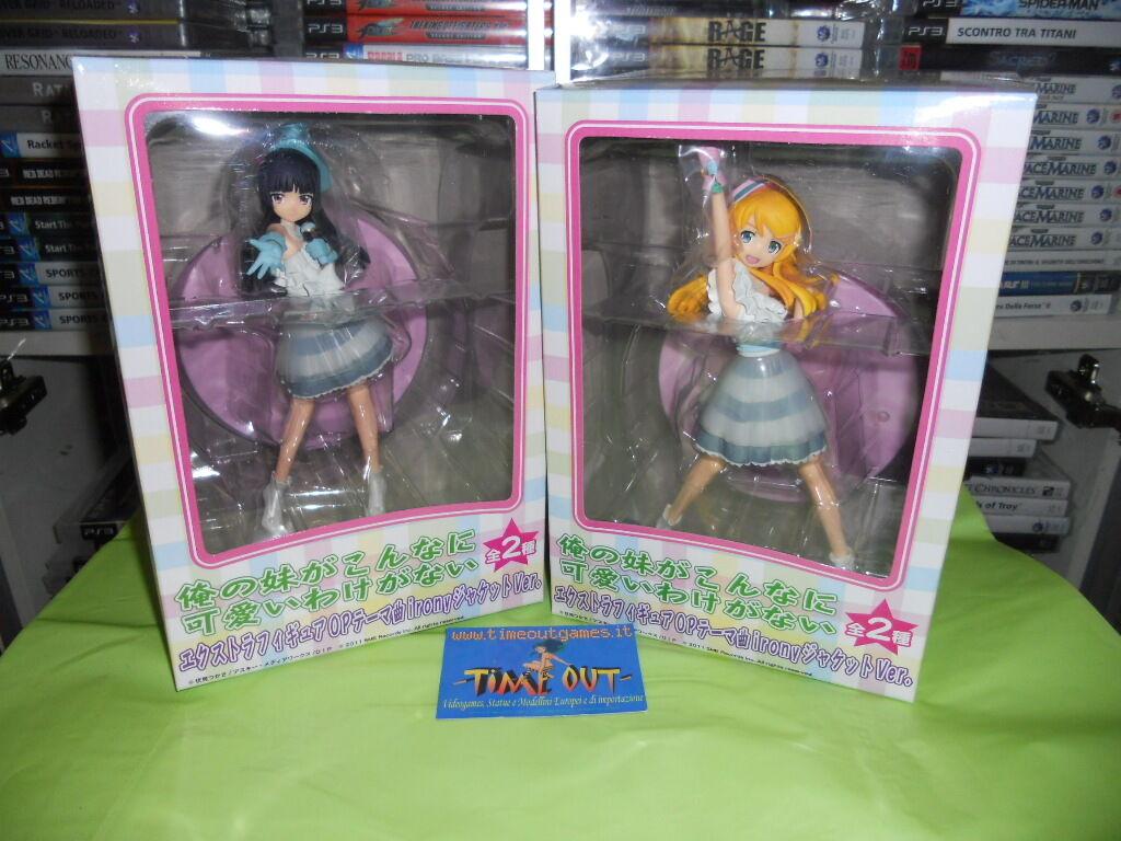 Sega Prize Oreimo Ore EX SET Figure Set Kirino & Kuroneko ORIGINALI NUOVE