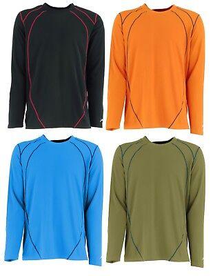 Terramar W8267 Men's Body Sensors Xsolarate Upf 30 Plus Ls T Shirt Crew Large Drip-Dry Activewear