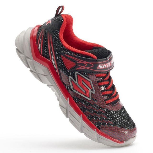 b10d7439d0 Skechers Boys  RIVE black silver slip-on sneakers 95240L Black Red Size