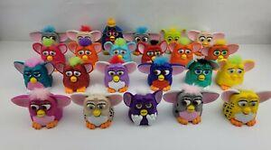 Vintage McDonalds Furby 1998 Plastic Assorted Colors Furbies Lot Of 23 Excellent