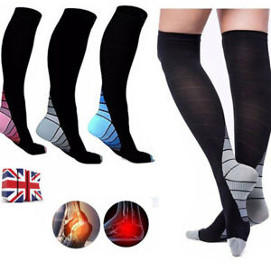 0e68fb5839a Men Women Anti-Fatigue Knee High Stockings Sports Compression Leg ...