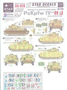 Star-Decals-1-35-PANZER-IV-PzKpfw-IV-Ausf-H-and-J-German-Tanks