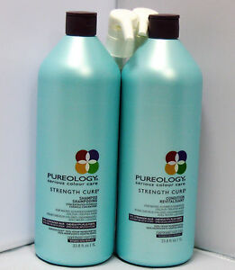 Pureology-Strength-Cure-Shampoo-amp-Conditioner-33-8-Liter-Set-w-PUMPS-Duo-PACK