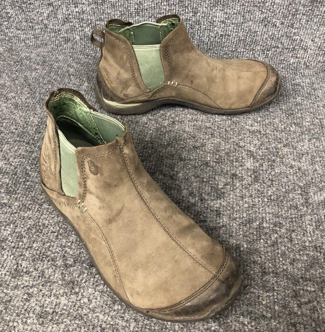 Teva omen's Size 6.5 M Waterproof  Brown W/Green Leather Ankle Bootie Shoe