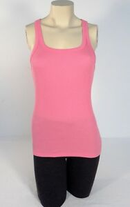 Ralph-Lauren-Pink-Ribbed-Stretch-Cotton-Tank-Women-039-s-NWT