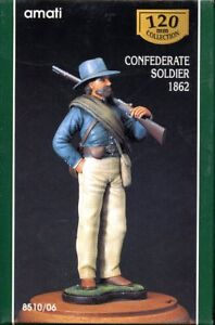 AMATI-120mm-1-16-Confederate-Soldier-1862-Resin-Figure-Kit-8510-06