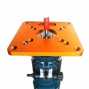 Universal Alu nium Router Table Insert Plate Bancs de travail du bois Wood Router Trimmer Models Gravure Machine