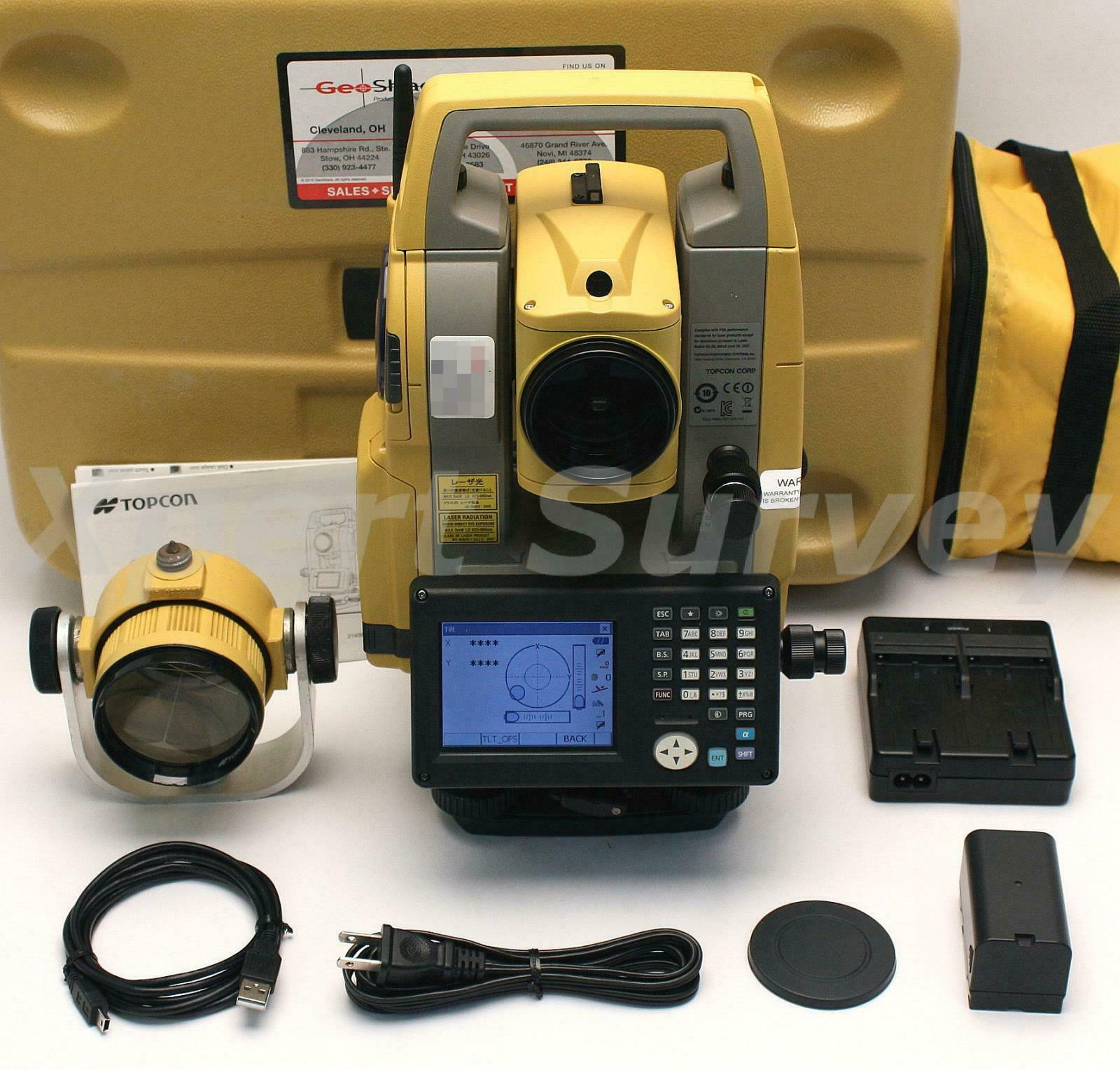 """Topcon OS-101 1"""" Reflectorless Onboard Total Station w/ Bluetooth Magnet OS101"""