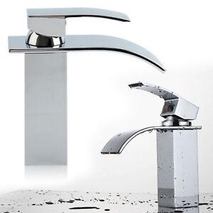 Bagno cascata lavandino rubinetto lavabo bagno Miscelatore Quadrato ...