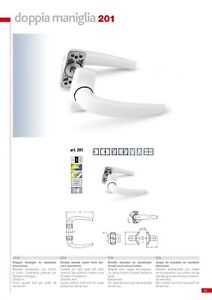Maniglia COPPIA per porte metalliche alluminio quadro 8 mm