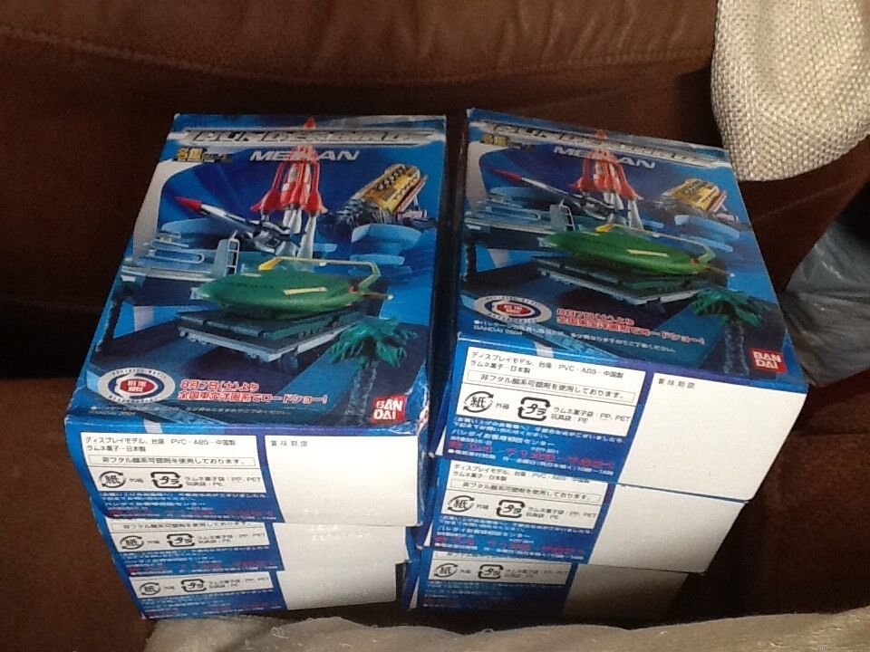 Set Of 6 Meikan Ban Dai Thunderbirds Figures Boxed From Japan