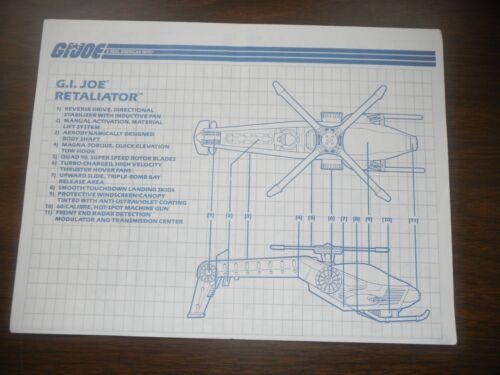 Vintage Blueprints 1982-93 GI Joe Cobra Dreadnok Instruction Direction Sheet A